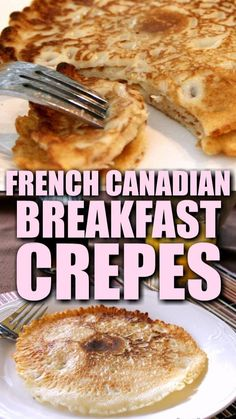 Easy German Recipes, Breakfast Crepes, Delicious Desserts, Yummy Food, Canadian Food, Pasta, Brunch Recipes, Love Food, Holiday Recipes