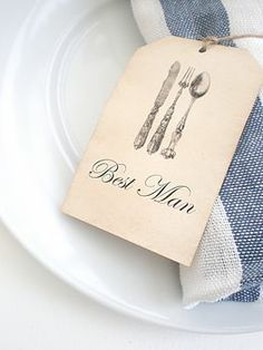 Place Cards Vintage Style