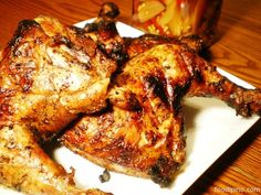 The chicken inasal is a popular dish from the City of Bacolod, Philippines. The smoked flavor added by cooking the meat on a hot charcoal grill brings out the marinade resulting in tastier dish. It is also distinct for its yellowish color brought about by basting with annatto-based oil.This dish is best eaten with garlic rice, pickled papaya and basting sauce.     [amd-zlrecipe-recipe:207]