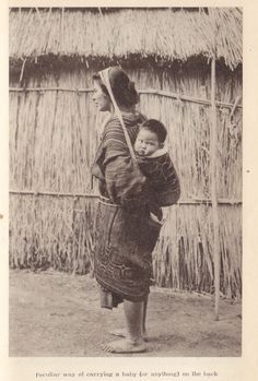 Ainu Mother and child.