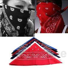 1 UNID Bufanda de Algodón Paisley Bandana abrigo de Pelo HeadWrap Diadema de Impresión de Doble Cara 6 Color
