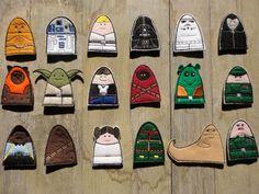 Star Wars Inspired Finger Puppets - Full Set. $40.00, via Etsy.