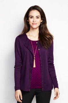 Women's+Long+Sleeve+Supima+Micro+Modal+Cardigan+from+Lands'+End