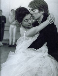 Fonteyn and Nureyev in rehearsal for Marguerite and Armand.