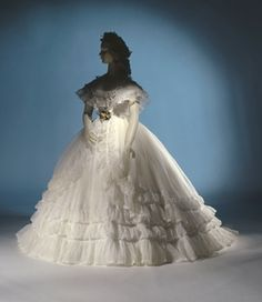 wedding dress 1864 ca