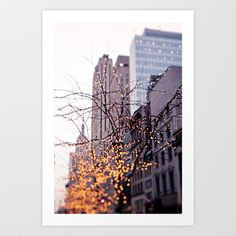 New York Photography, NYC, New York Print, Dreamy & Whimsical, Empire State Building, Christmas fairylights by Twiggs Photography