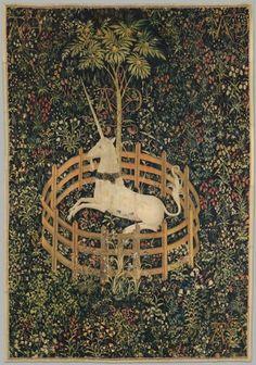 'El unicornio en cautividad' (1495-1505), uno de los siete tapices  que narran la caza del animal fantástico