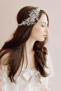 Gorgeous Silver Wedding Headpiece with Rhinestone SAH015