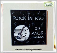 Rock in Rio 30 anos madeira http://www.amocarte.blogspot.com.br/
