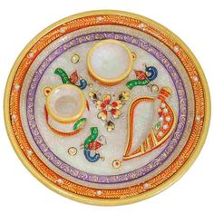 Marble Pooja Thali - Gift for Parents