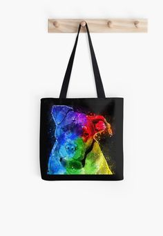 This design is especially for dog lovers who fancy the Pitbull. An abstract expression applied to this handsome photo to create a modern work of art in bright acrylic colors reminiscent of Peter Max's painting style. • Also buy this artwork on bags, apparel, stickers, and more.