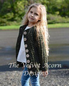 CROCHET PATTERN-The Obsidian Sweater 2 3/4 5/6 by Thevelvetacorn