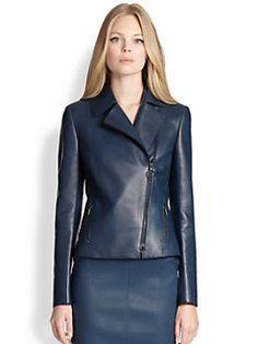 Akris Punto - Perforated Leather Moto Jacket