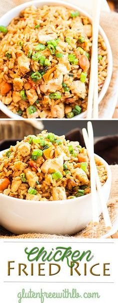 A gluten free chicken fried rice recipe that tastes as good as a restaurants but is made with healthy olive oil!
