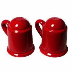 Mamma Ro Salt And Pepper Shaker Set Color Red By La Vita Vera 36 00