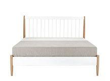 Willow Double Bed, Oak and White