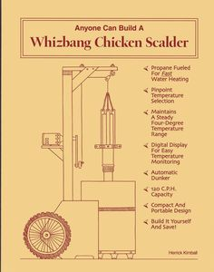 Anyone Can Build AWhizbang Chicken Plucker: Get Your Whizbang Plucker Book Here(And the Whizbang Chicken Scalder book too) I Can Do It, You Got This, Chicken Plucker, Earth Book, Poultry Supplies, Backyard Poultry, Water Heating, Small Farm, Raising Chickens