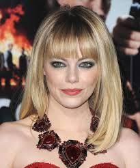 emma stone medium hair with bangs - Google Search