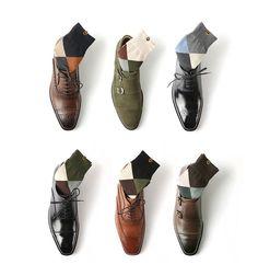 Amazon.com: Laonsocks Men's High-Quality Original Argyle Crew Dress Socks 6-Pack (TYPE2_WITH SOCKS CASE): Clothing