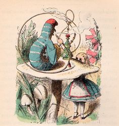 Alice's Adventures in Wonderland by Lewis Carroll, illustrated by John Tenniel with illustrations colored by Fritz Kredel (1946 edition).