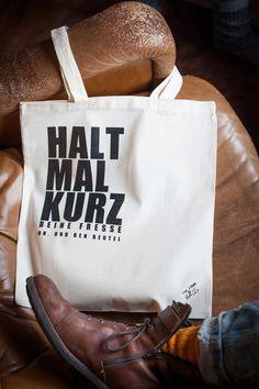 "Jutebeutel ""Halt mal kurz..."" // totebag by The Essence of Hass via DaWanda.com"