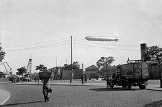 Zeppelin a sobrevoar Lisboa em 1935