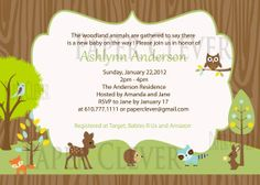 woodland animals baby shower invitations woodland animal neutral baby shower invitation
