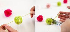 Create a pom pom garland - Tara Dennis