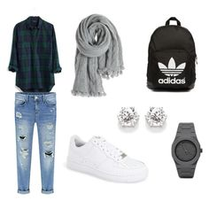 Sans titre #5 by paolacarreau on Polyvore featuring polyvore, fashion, style, Madewell, NIKE, adidas Originals, CC and Calypso St. Barth