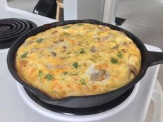 Frittata   10 eggs 1/4 cup milk 1/2 cup feta  Onions  Peppers Italian sausage Mushrooms