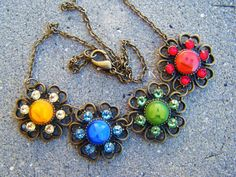 Xbox 360 Button Crystal Flower Necklace by SuperfastSpider on Etsy, $39.99