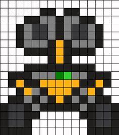 Mini Wall-E Perler Bead Pattern