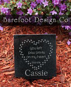 Laser Engraved Granite Pet Memorial