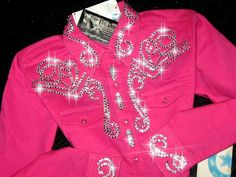 HOT PINK YOUTH SIZE 10 ! BLING GALORE!