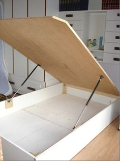"""Visit our internet site for more relevant information on """"murphy bed ideas ikea guest rooms"""". It is a great place to find out more. Diy Storage Bed, Storage Room Organization, Bed Frame With Storage, Diy Bed Frame, Storage Ideas, Diaper Storage, Ottoman Storage, Clothes Storage, Bedroom Storage"""