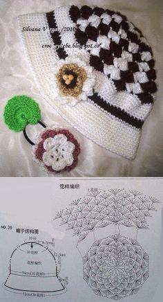 crochet y bebê: CHAPEUZINHO EM CROCHET PARA MENINAS!