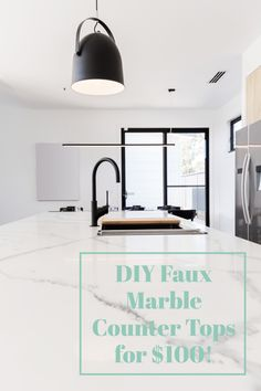 Carrera Marble Countertops for about $100??? YUP!!Do you have out-dated or ugly countertops that you would love to update with marble, but don't have the budget? I will show you how to create a faux Carrera marble finish for your kitchen or bathroom countertop. #carreramarble #fauxmarble #paintedcounters #paintedcountertops #DIYcountertops #fauxmarble #upcycledbathroomvanity #paintedvanity #DIYbathroomvanity #diyfauxmarble #DIY #farmhousebathroom #bathroommakeover Painting Countertops, Marble Countertops, Painted Vanity, Diy Bathroom Vanity, Home Improvement Projects, Carrera, Diy Art, Diy Furniture, Diy Artwork