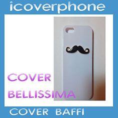 Cover Custodia CaseStrass Brillantini per IPHONE 4 4 Smoustache case moda 2014
