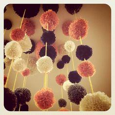 Pom poms for store display