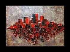 Peinture au Couteau Débutants - Acrylique Facile - YouTube