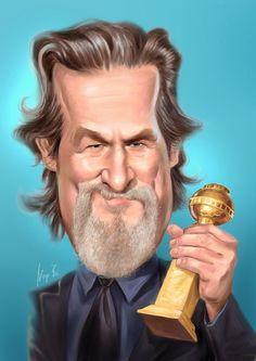 Jeff Bridges, Celebrity Caricatures, Portrait Art, Celebrities, Fictional Characters, Artwork, Photos, Movies, Men