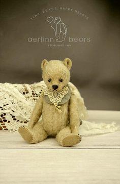 Indie Miniature  Mohair Artist Teddy Bear from by aerlinnbears