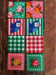 Perler bead coasters by Joyce Tresoor - Enjoy my enjoyz