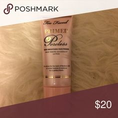 Too faced primed poreless Face primer. Used a few times. Too Faced Makeup Face Primer