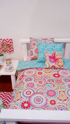 Hey, I found this really awesome Etsy listing at https://www.etsy.com/listing/207619062/beautiful-doll-bedding-4-piece-set-for