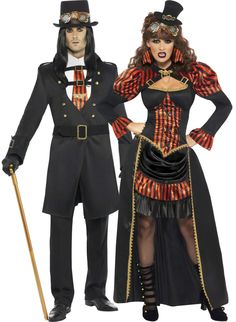 Steampunk costume for couples : Vegaoo Couples Costumes