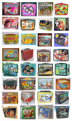 1960's childhood lunch boxes