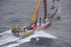 Abu Dhabi Ocean Racing rounding Cape Horn in 2nd position