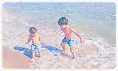 El dúo en la playa
