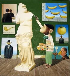 Magritte, re-imagined by Anthony Browne
